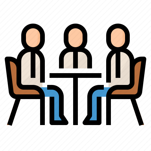 business, company, meeting, talking icon