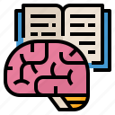 analysis, brain, research, summarize icon