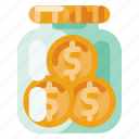 business, industry, internet, jar, media, money, startup icon