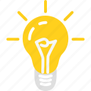 bulb, business, idea, light, start up, startup icon