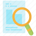 data, file, graph, pie, research, search, statistics icon