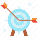 archery, arrow, business, goal, pointing, target icon