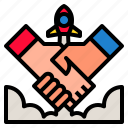 agreement, deal, hand, handshake, partnership icon