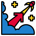 concept, growth, progress, space, success icon