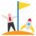 business, businessman, leadership, success, successful icon