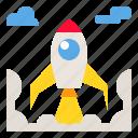 business, rocket, startup, teamwork, technology