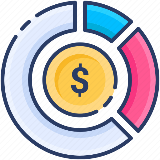 Categories, dollar, investment, money, pie chart, sell, share icon - Download on Iconfinder