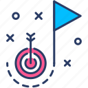 goal target, marketing, plan, seo, startup, strategy icon