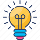 abstract, bulb, creative, electricity, idea, lamp, light icon