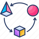 arrow, arrows, direction, download, move, transform, transformation icon