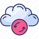 cloud, forecast, refresh, storage, streamline, sync, weather icon
