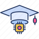 cap, education, graduate, graduate cap, knowledge, learning, study icon