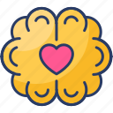 brain, favorite, heart, love, passion, romance icon
