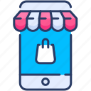 commerce, device, ecommerce, mobile, phone, shop, smartphone icon