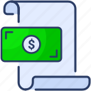 bill, check, dollar, money, note, paper icon