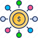 business, connection, finance, link, model, network icon