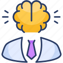 avatar, brain, brainstorming, entrepreneur, mind, thinker icon
