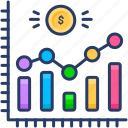 chart, cost, cost and revenue, costs, costs and revenues, revenues icon