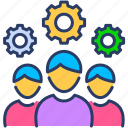 businessmen, colleagues, employees, group, staff, team, teammates icon