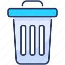 bin, can, delete, editorial, recycle, remove, trash icon