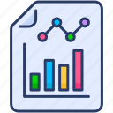 analytics, graph, page, paper, report, statistics icon