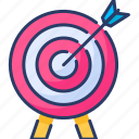 achievements, arrow, darts, goal, strategy, target icon
