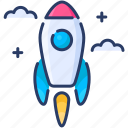 launching, rocket, space, start, startup icon