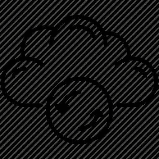 cloud, refresh, storage, streamline, sync icon