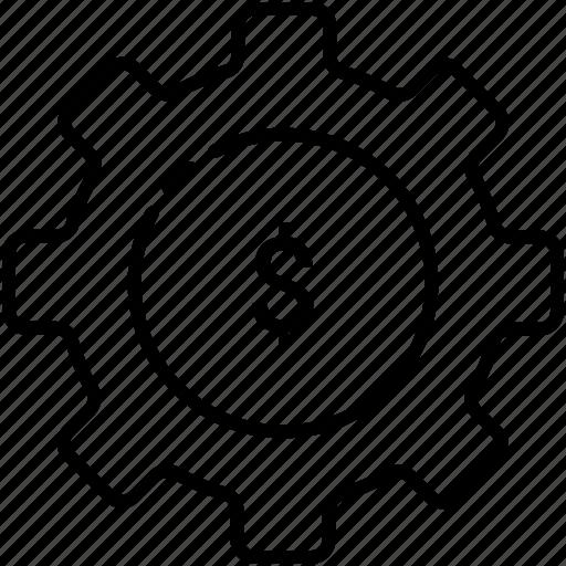 Budget, finance, gear, money, online, work icon - Download on Iconfinder