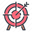 aim, arrow, direction, hit, target icon