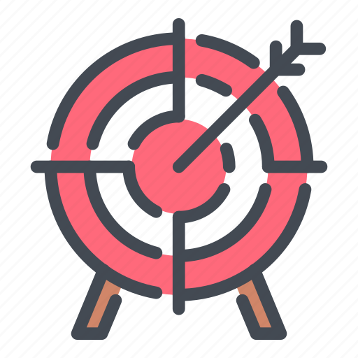 aim, arrow, direction, hit, target icon