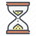 clock, glasshour, hourglass, sandwatch, time, timer, watch icon