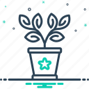 botanical, conservatory, environment, gardening, greenery, houseplant, plant in a pot icon
