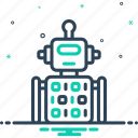 algorithm, application, artifical, machinery, mechanic, robot code, software icon