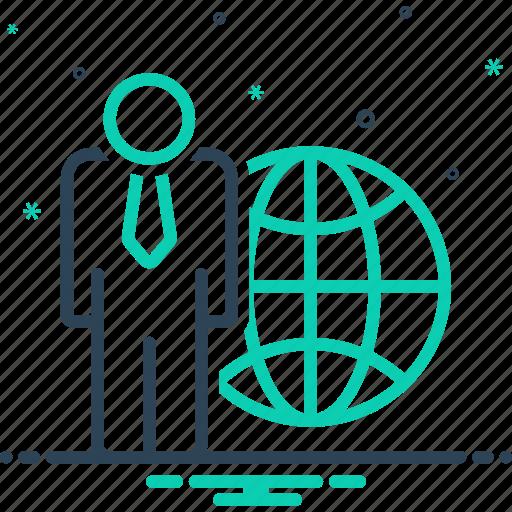 businessman, collaboration, global, international, international businessman, investment, worldwide icon
