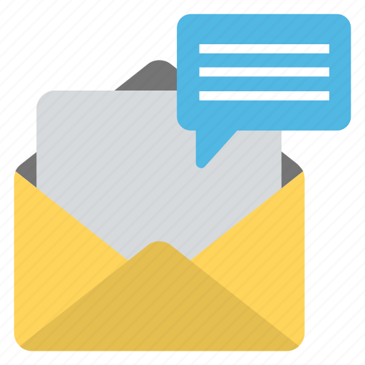 correspondence, email, letter, mail, message icon