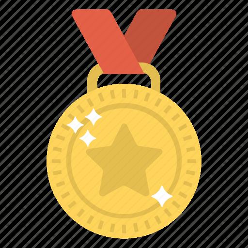 award, emblem, gold medal, medal, winner icon