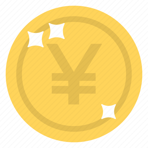 cash, currency coin, money, wealth, yen coin icon