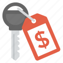 business key, business success, financial ideas, financial success, key with dollar sign icon