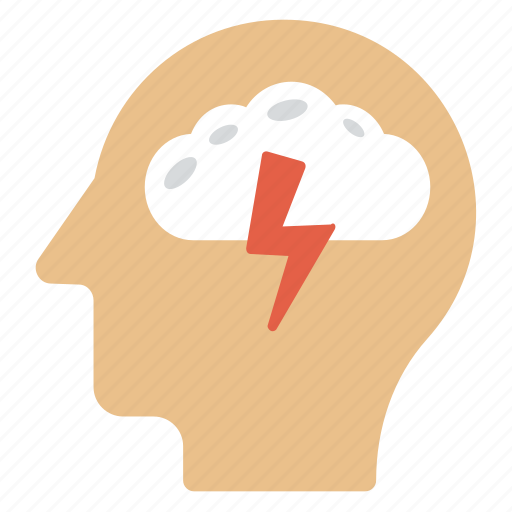 brainstorm, bright thought, creative person, realization, thinking icon