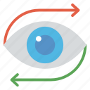 business eye, business vision, marketing strategy, marketing vision, mission marketing icon