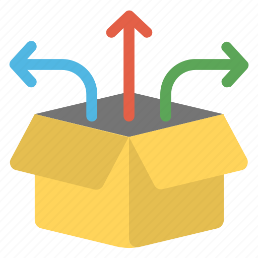 cargo workflow, order dispatch, order processing, purchase requisition, warehouse management icon
