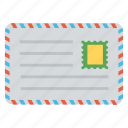 airmail, correspondence, envelope, letter, postcard icon
