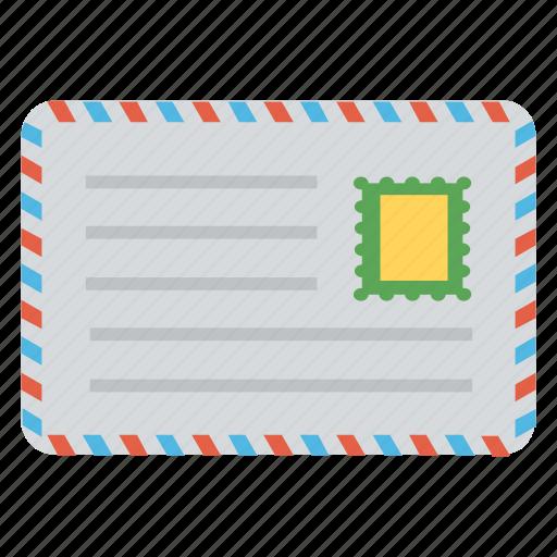 airmail, correspondence, envelope, letter, postcard icon