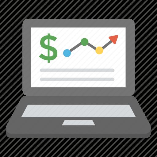 financial data analysis, seo performance, web analytics, website dashboard, website statistics icon