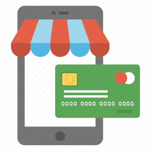 credit card, ecommerce, m-commerce, mobile banking, pay online icon
