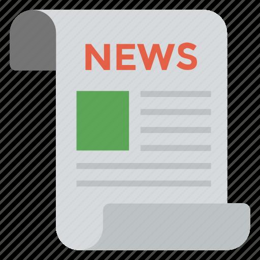 blogging news, journalism, magazine, news blog, newspaper icon
