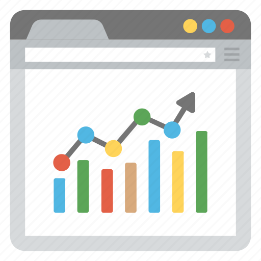 business forecast, data analytics, financial graph analysis, predict revenues, sales forecasting icon