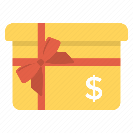 cash gift, cash gift box, cash parcel, gift aid, gift economy icon