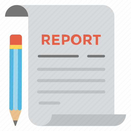 business document, business statement, business summary, marketing proposal, report icon